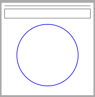 A circle drawn on a UIView