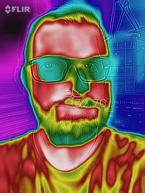 A thermal image showing my face